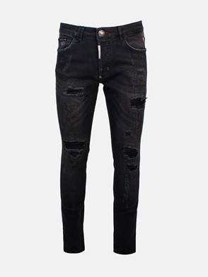 PHILIPP PLEIN - BLACK DESTROYED JEANS