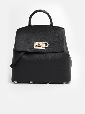 SALVATORE FERRAGAMO - BLACK THE STUDIO BACKPACK
