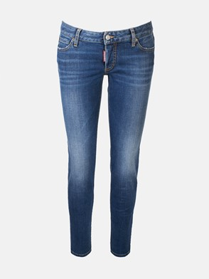 DSQUARED2 - BLUE JENNIFER CROPPED JEANS