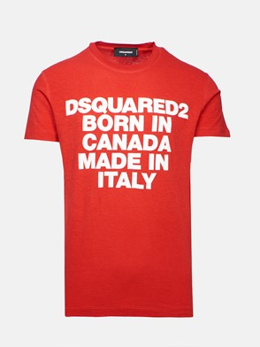 DSQUARED2 - T-SHIRT ROSSA