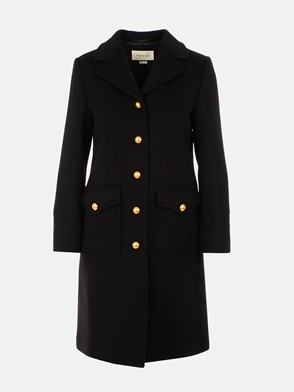 GUCCI - BLACK MARTINGALE COAT