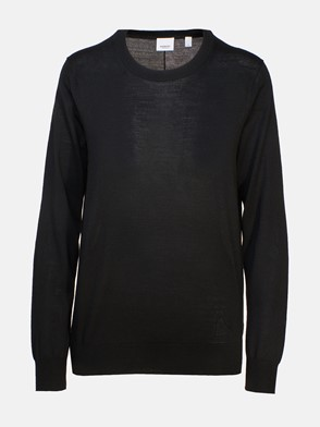BURBERRY - BLACK BEMPTON SWEATER