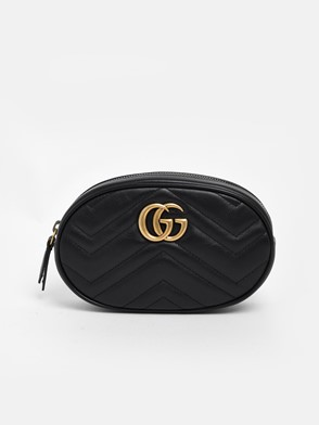GUCCI - BLACK GG MARMONT FANNY PACK