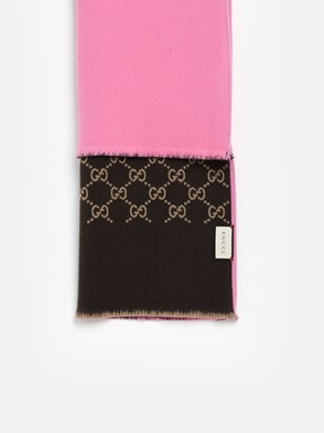 GUCCI - PINK AND BROWN SCARF