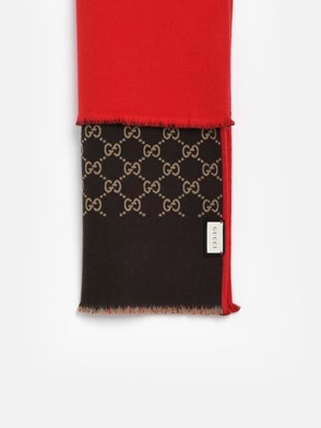 GUCCI - RED AND BROWN SCARF