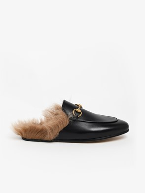 GUCCI - BLACK PRINCETOWN SLIPPERS