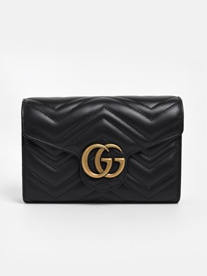 GUCCI - BLACK MARMONT MINI BAG