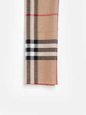 BURBERRY - CAMEL MU GIANT CHECK SCARF