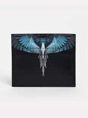 MARCELO BURLON COUNTY OF MILAN - BLACK TURQUOISE WINGS CARD HOLDER