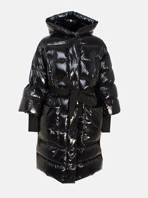 REDVALENTINO - LONG BLACK DOWN JACKET