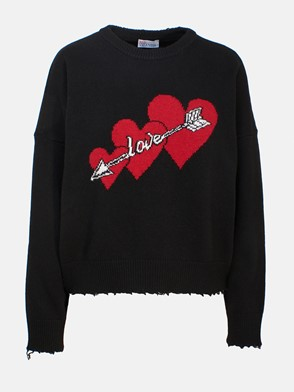 REDVALENTINO - BLACK SWEATER