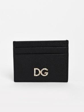 DOLCE & GABBANA - BLACK DAUPHINE CARD HOLDER