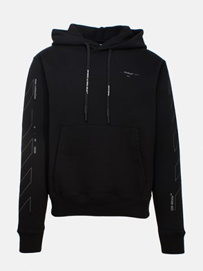 OFF WHITE c/o VIRGIL ABLOH - BLACK UNFINISHED SWEATSHIRT