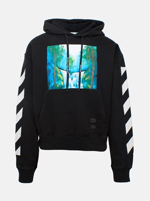 OFF WHITE c/o VIRGIL ABLOH - BLACK WATERFALL SWEATSHIRT