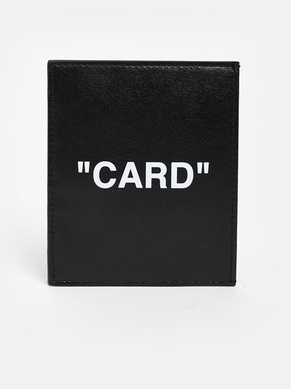 OFF WHITE c/o VIRGIL ABLOH BLACK QUOTE CARD HOLDER