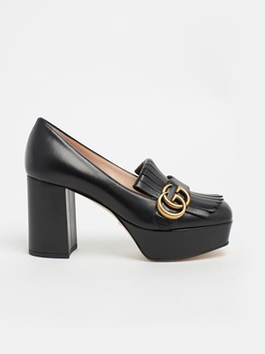 GUCCI - BLACK GG MARMONT PUMPS