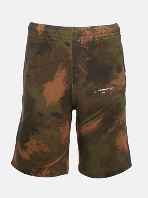 OFF WHITE c/o VIRGIL ABLOH - CAMOUFLAGE PAINTBRUSH SHORTS