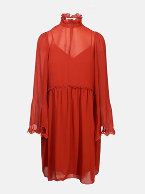 SEE BY CHLOE' - TERRACOTTA EARTHY DRESS