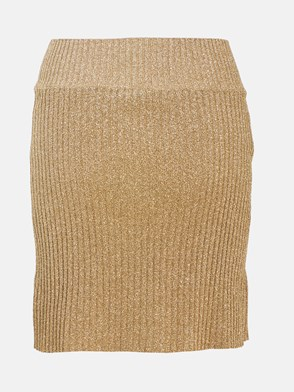 ALBERTA FERRETTI - GOLD LUREX SKIRT