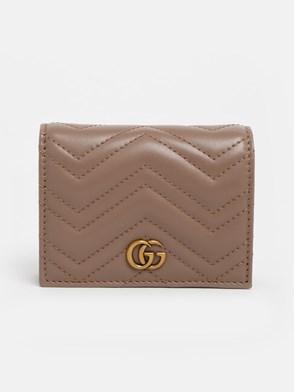 GUCCI - POWDER PINK GG MARMONT CARD HOLDER