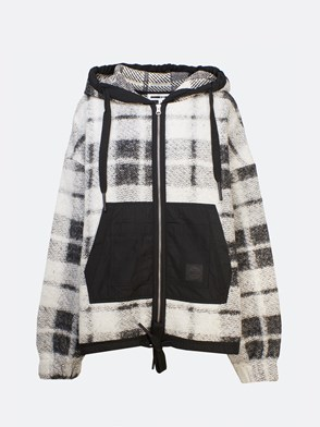 McQ BY ALEXANDER MCQUEEN - BLACK AND WHITE COMFY JACKET