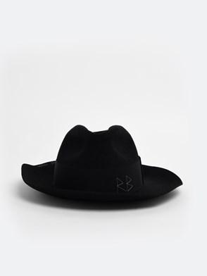 RUSLAN BAGINSKIY - BLACK FEDORA HAT
