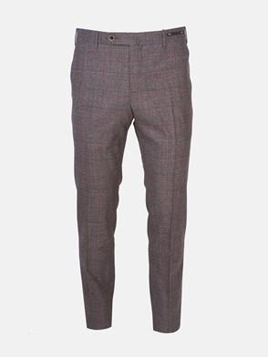 PT01 - RED/GREY SLIM CHECK PANTS