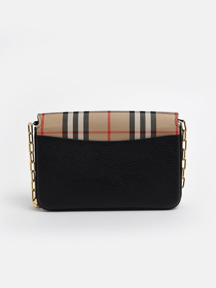 BURBERRY CHECK HAYES CROSSBODY BAG
