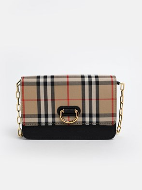 BURBERRY - CHECK HAYES CROSSBODY BAG