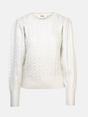 MSGM - SILVER PLAITED SWEATER