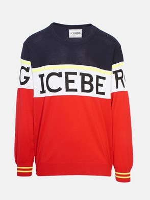 ICEBERG - RED AND BLUE SWEATER