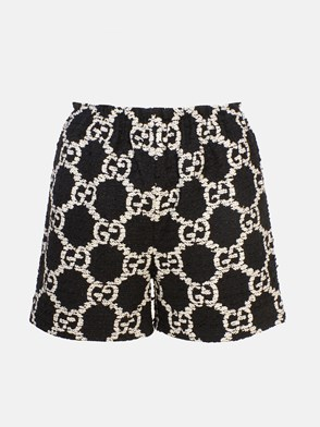 GUCCI - BLACK GG SHORTS