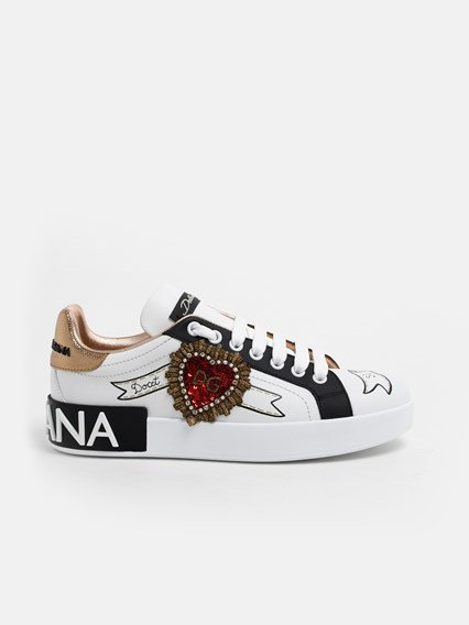 DOLCE & GABBANA WHITE SNEAKERS