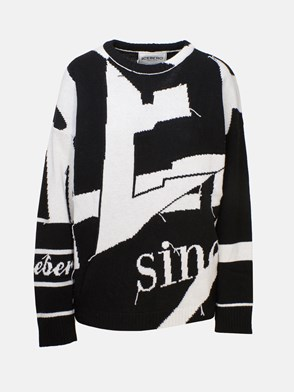 ICEBERG - BLACK AND WHITE SWEATER