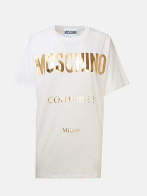 MOSCHINO - T-SHIRT M/C OVER MOSCHINO BIAN