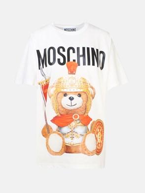 MOSCHINO - T-SHIRT M/C LVER TEDDY BIANCO