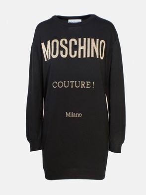 MOSCHINO - BLACK SWEATER DRESS