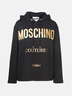 MOSCHINO - BLACK MOS CROPPED SWEATSHIRT