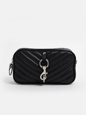 REBECCA MINKOFF - BLACK CAMERA BELT BAG FANNY PACK