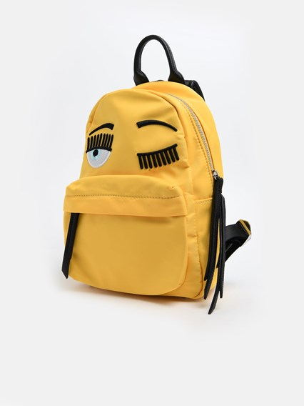 CHIARA FERRAGNI YELLOW BACKPACK
