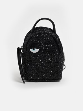 CHIARA FERRAGNI - BLACK GLITTER BACKPACK
