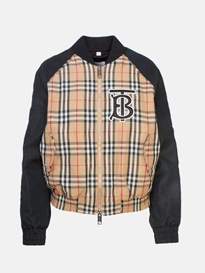 BURBERRY - HARLINGTON CHECK BOMBER JACKET