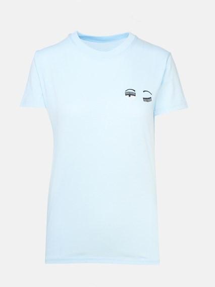 CHIARA FERRAGNI BLUE T-SHIRT