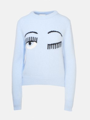 CHIARA FERRAGNI - LIGHT BLUE SWEATER