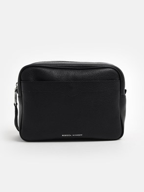 REBECCA MINKOFF - BORSA BIG CAMERA BAG PEBBLE BL