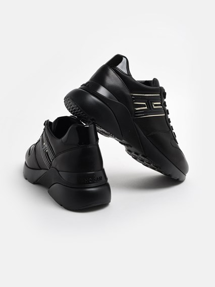 HOGAN BLACK ACTIVE ONE SNEAKERS