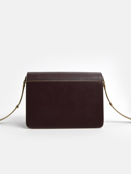 MARNI BURGUNDY TRUNK BAG