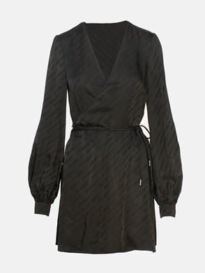 OFF WHITE c/o VIRGIL ABLOH - BLACK WRAP DRESS