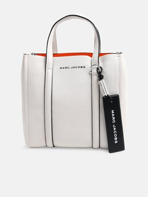 MARC JACOBS - WHITE THE TAG TOTE 21 BAG