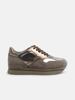 HOGAN - GOLD LACED SNEAKERS